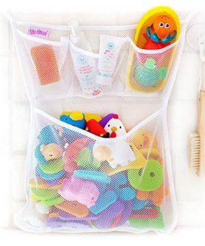 Tub Cubby Bath Toy Organizer + Ducky - Mesh Net Bin