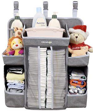 Minnebaby Baby Nursery Organizer and Diaper Caddy Organizer