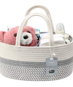 MTOUOCK Baby Diaper Caddy Organizer, Cotton Pure-Handmade