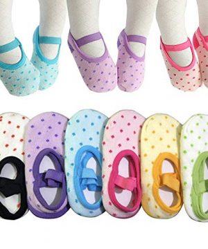 6 Pairs Toddler Girl Anti Slip Mary Jane Socks