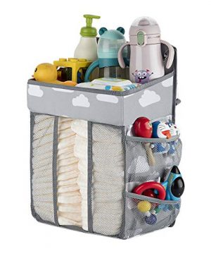 Diaper Organizer Hanging Diaper Caddy-Diaper Stacker for Changing Table