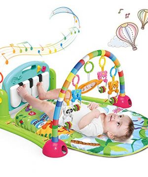 Baby Play Gym Mat, Kick and Play Baby Activity Gym