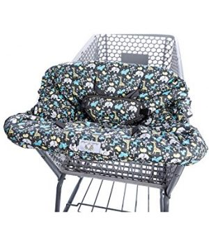 2-in-1 Shopping Cart Cover and High Chair Cover, Universal Fit