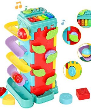 4 in 1 Activity Cube Toys Toddler Toys Ball Ramp