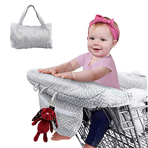 2-in-1 Shopping Cart Cover and Highchair Cover for Baby