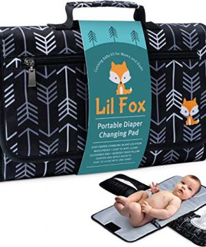 Baby Changing Pad by Lil Fox. Portable Changing Pad for Baby Diaper Bag