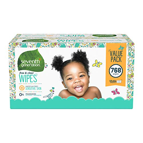 Seventh Generation Baby Wipes, 768 count, Made for Sensitive Skin