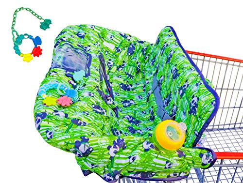 Large Shopping Cart Cover for Babies - 2 in 1 Versatile Grocery cart