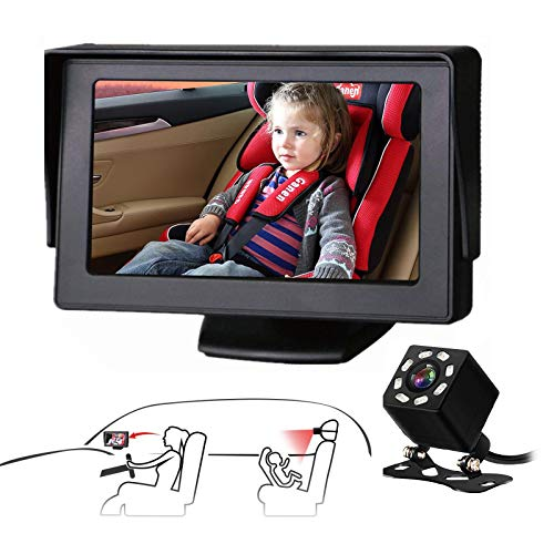 Baby Car Mirror SAMFIWI Car Seat Mirror Camera