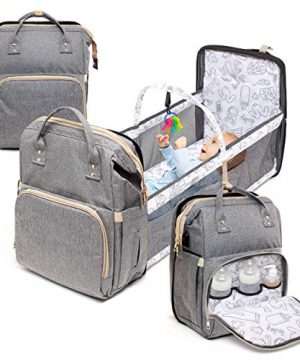 4 in 1 Diaper Bag with Bassinet Changing Station– Multi Purpose