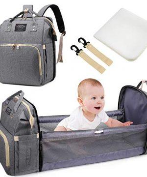 Baby Diaper Backpack - Uiter 3 in 1 Baby Doll Diaper Bag Portable Bed