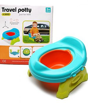 WISHTIME Baby Toilet Training Travel Potty 2 in 1 Comfortable Seat