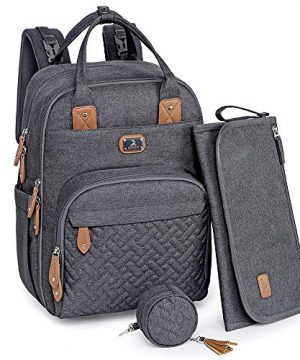Diaper Bag Backpack with Portable Changing Pad
