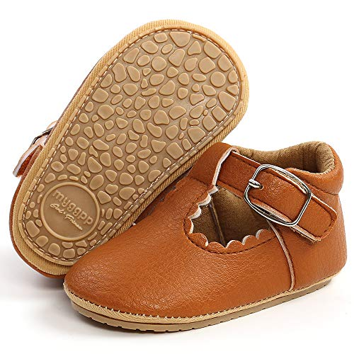 LAFEGEN Baby Girl Shoes Non Slip Soft Sole PU Leather