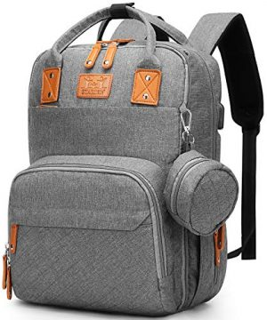 Diaper Bag Backpack with Foldable Baby Changing Pad