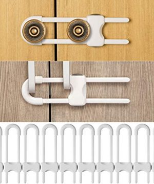 10 Pieces Sliding Cabinet Locks, Baby Proofing Cabinets
