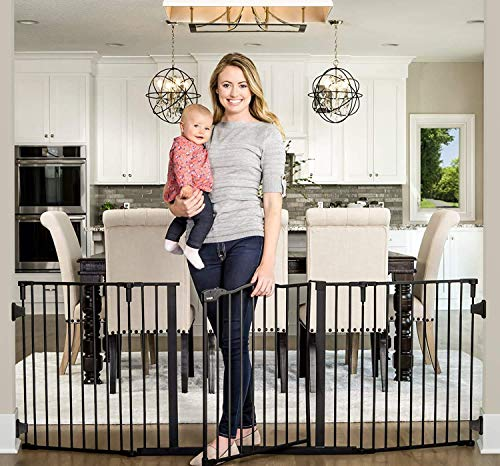 Regalo Deluxe Home Accents 74-Inch Widespan Safety Gate
