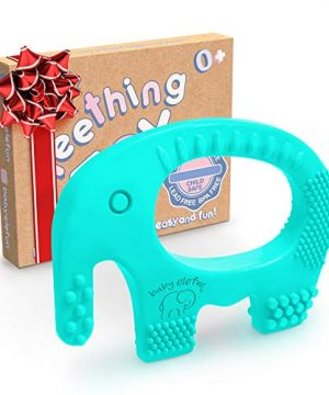 Baby Teething Toys - BPA Free Silicone Toy - Cute, Easy to Hold