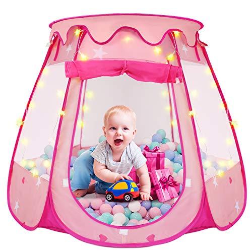 Pop Up Princess Tent, ZUOSEN Ball Pit Kids Play Tent