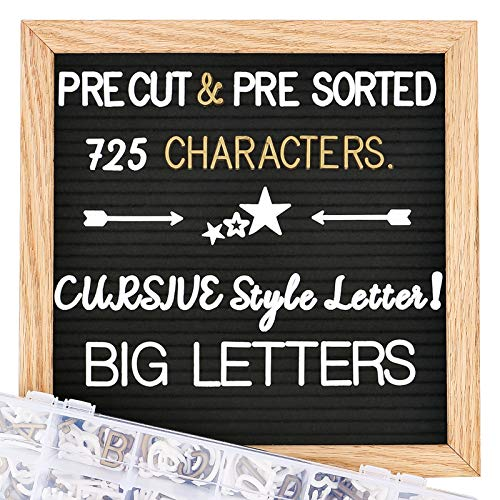 Felt Letter Board with Letters, 10x10 inch Changeable Letter Boards