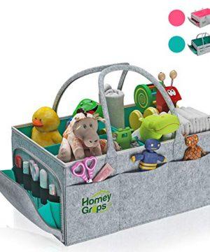 Baby Diaper Caddy Organizer – Newborn Portable Nursery Storage
