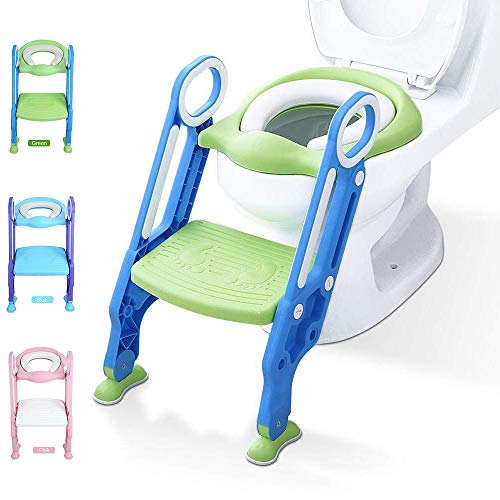 Potty Training Toilet Seat with Step Stool Ladder for Kid and Baby