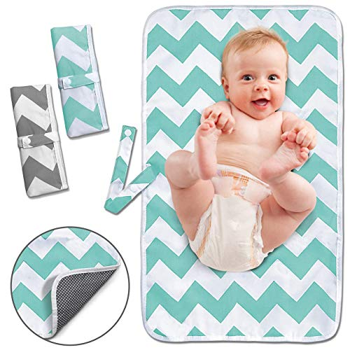 Portable Changing Pad, 2 Pack Baby Waterproof Diaper Changing
