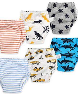 MooMoo Baby 6 Packs Cotton Training Pants Reusable Toddler