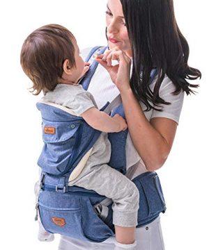 SUNVENO Baby Hipseat Ergonomic Baby Carrier Soft Cotton