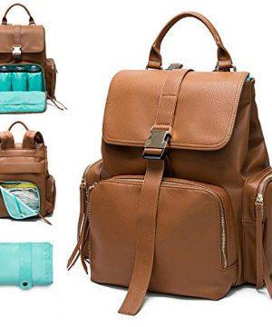 Diaper Bag Backpack Mominside Leather Backpack for Women