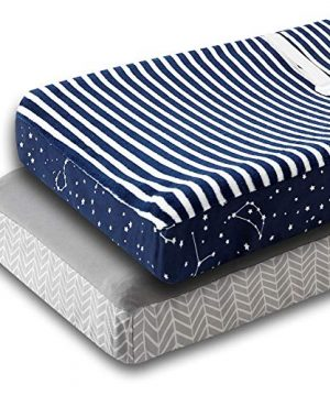 Changing Table Pad Cover - 2 Pack Plush Changing Pad Covers for Boys