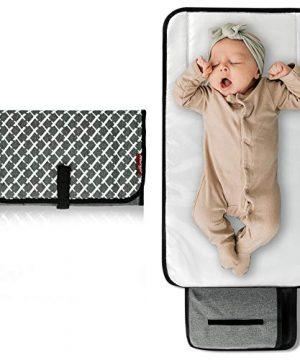 Arrontop Baby Portable Changing Pad, Waterproof Diaper Bag