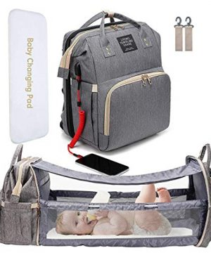Diaper Bag Backbag with Changing Station Pad