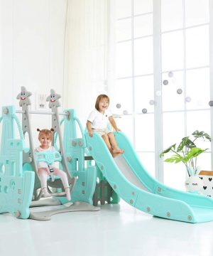 4 in 1 Kids Slide and Swing Set with Music