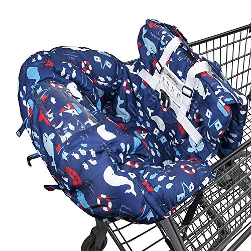 Shopping Cart Cover for Baby- 2-in-1 - Foldable Portable Seat