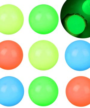 8PSC Glow in The Dark Sticky Ceiling Balls