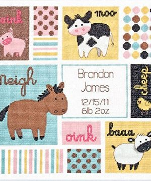 Babies Birth Record Counted Cross Stitch Kit