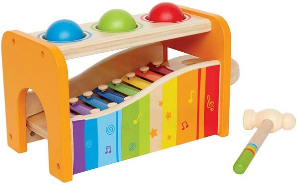 Hape Pound, Tap Bench with Slide Out Xylophone