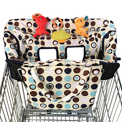 2-in-1 Shopping Cart Cover and High Chair Covers for Baby Boy or Girl