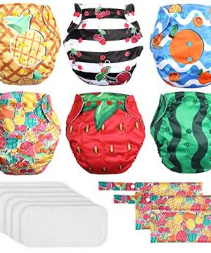 Lictin 6 Pack Baby Cloth Diapers, One Size Adjustable