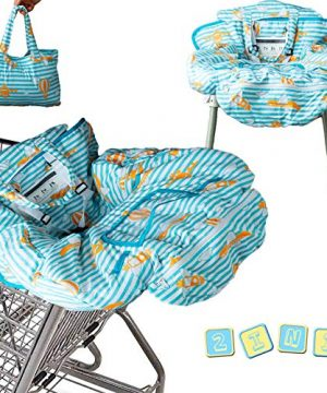 2-in-1 Baby Shopping Cart Cover   Restaurant High Chair Cover