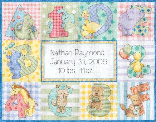 DIMENSIONS Cross Stitch Craft Kit Zoo Alphabet Birth
