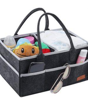 Baby Diaper Caddy Organizer, Portable Nursery Storage