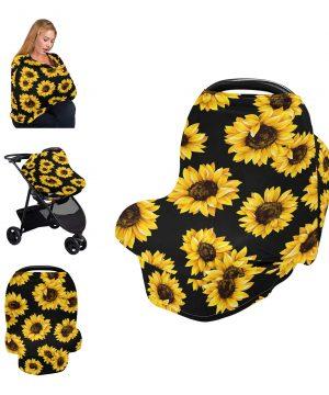 Nursing Cover Breastfeeding Scarf Sunflower