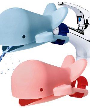 2 Pieces Whale Faucet Extender Bath Spout Cover Sink