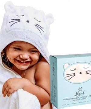 Organic Bamboo Baby Hooded Towel Set