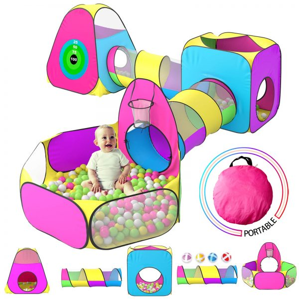 5pc Kids Play Tent for Toddler with 1 Baby Ball Pits
