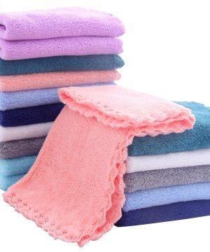 16 Pack Baby Washcloths - Luxury Multicolor Coral Fleece