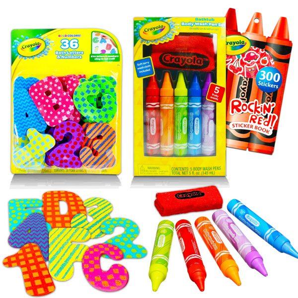 Color Shop Crayola Bath Toy Bundle Bath Activity Set